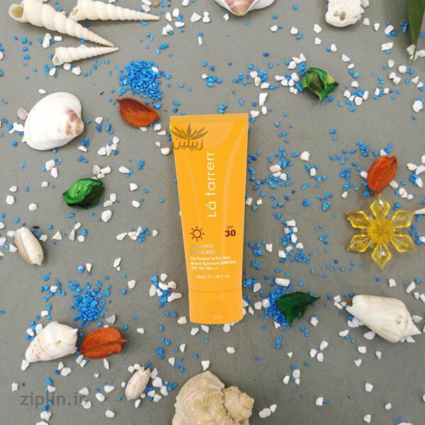 کرم ضد آفتاب SPF30 بی رنگ خشک لافارر