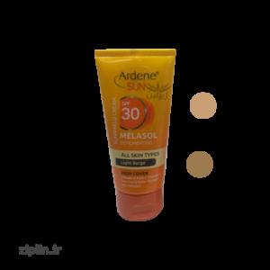 کرم ضد آفتاب و ضدلک رنگی آردن روشن و طبیعی