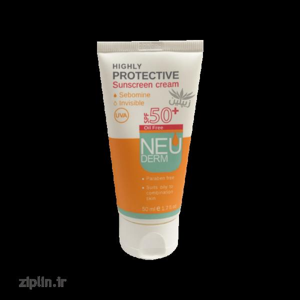 ضد آفتاب SFP50 فاقد چربی نئودرم (Neuderm)