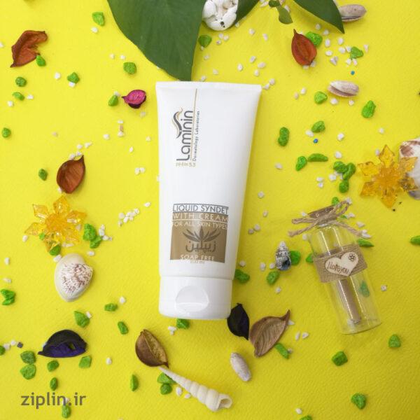 ژل پاک کننده کرم دار انواع پوست لامینین
