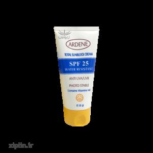 کرم ضد آفتاب spf25 و ضد آب آردن