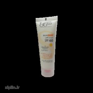 کرم ضد آفتاب SPF60 فاقد رنگ سی گل