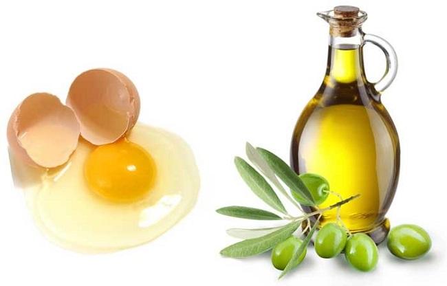 صاف کردن مو با استفاده از تخم مرغ و روغن زیتون