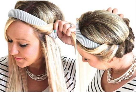 فر کردن مو با هد بند