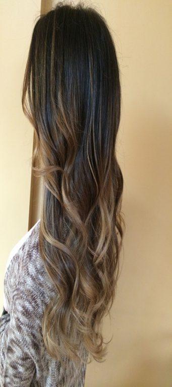 آرایش موهای فر که فر آن کم است