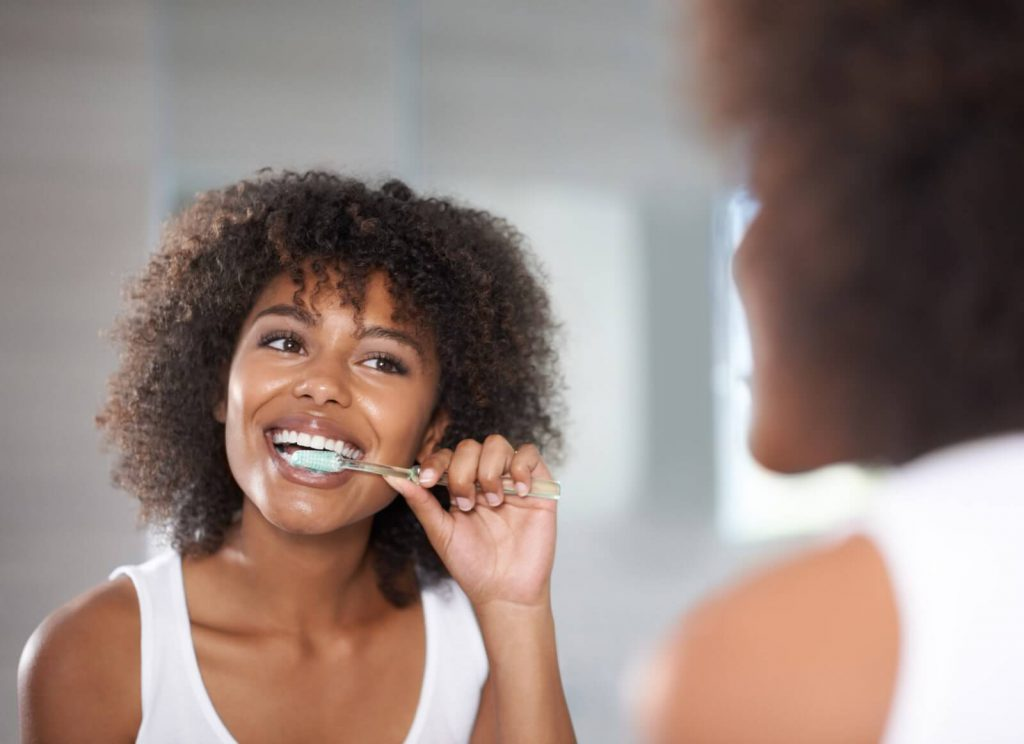 tooth brushing