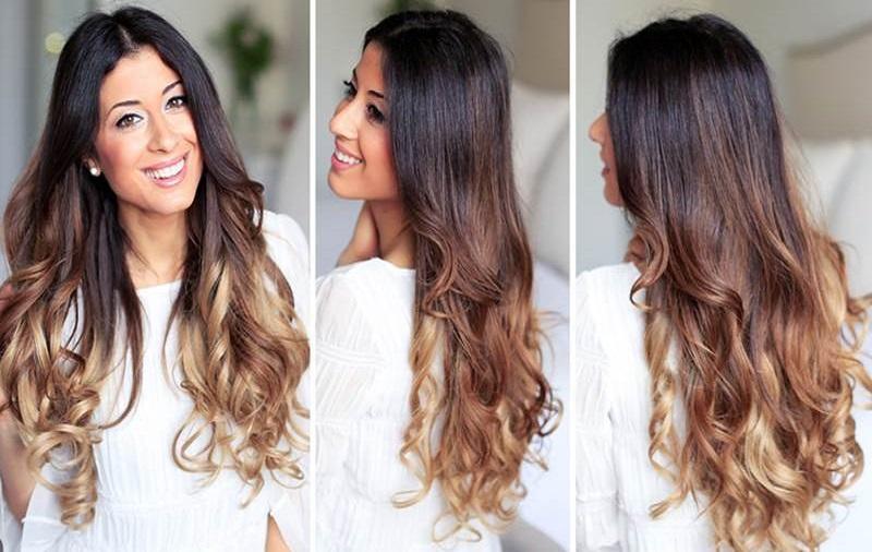 آرای موهای فر بلند موج دار