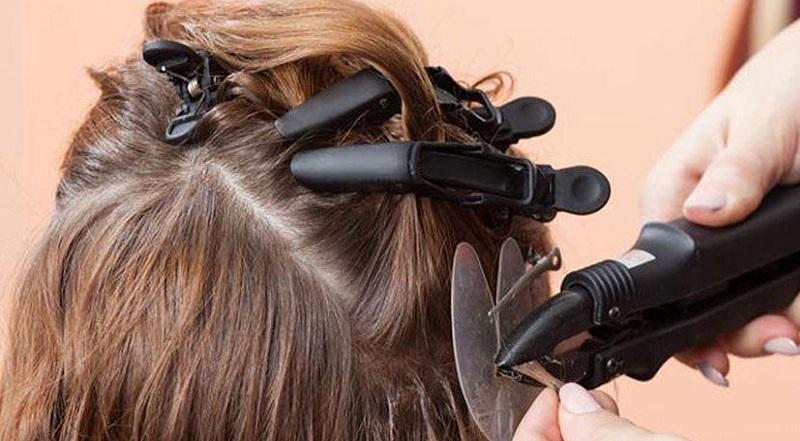 اکستنشن مو به روش حرارتی