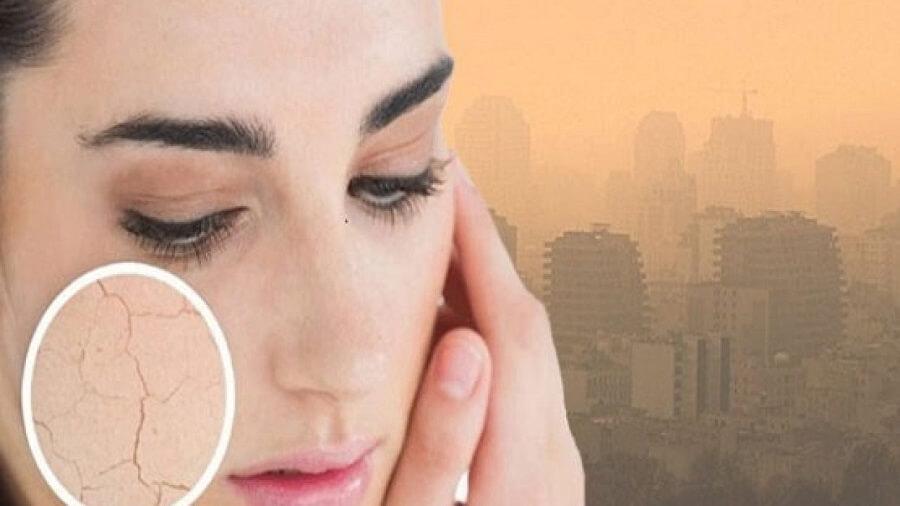 تاثیر آلودگی هوا روی پوست