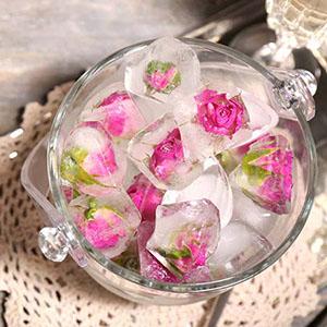 یخ درمانی با گلبرگ گل رز