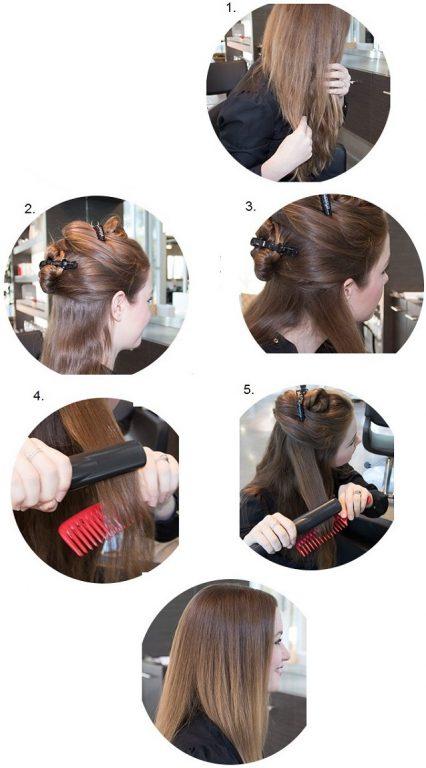 مراحل صاف کردن مو