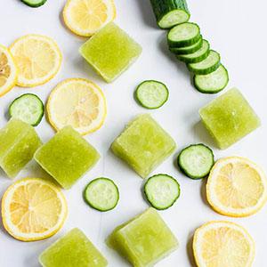 یخ درمانی با خیار و لیمو