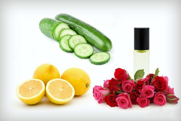 ماسک لیمو ترش ، گلاب، خیار