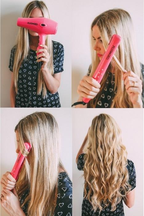 فر کردن مو با اتو مو