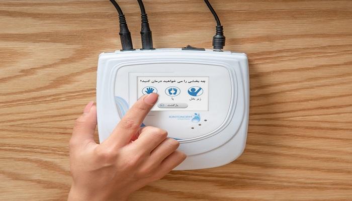 دستگاه یونتوفورزیس برای درمان عرق زیر بغل ، کف دست و پا