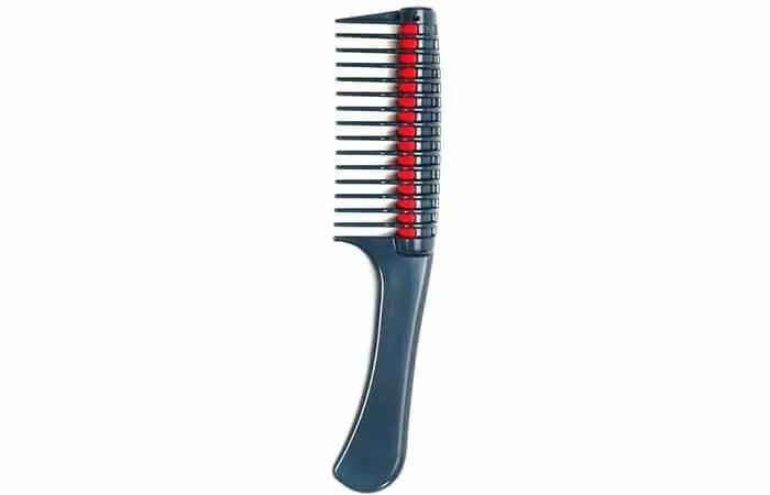 شانه کردن مو های فر با شانه دندانه پهن