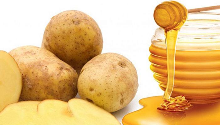 سفید شدن پوست با ماسک سیب زمینی و عسل
