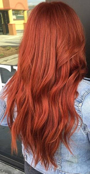 رنگ مو قرمز مسی رنگ مو ترند سال 1400