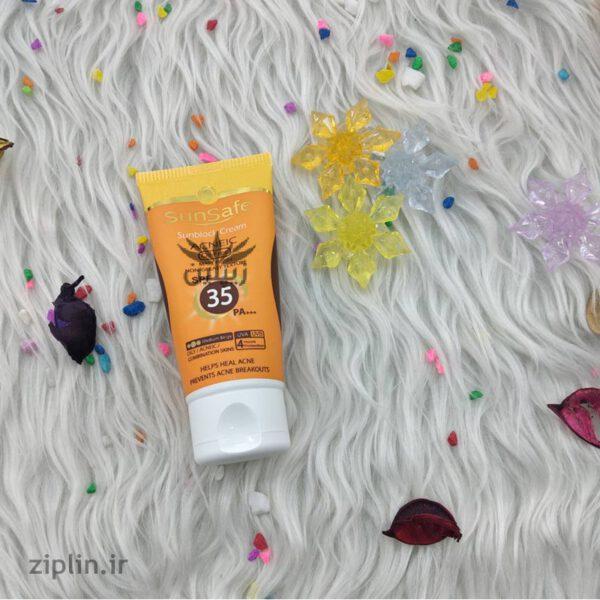 ضد آفتاب فاقد چربی SPF35 سان سیف