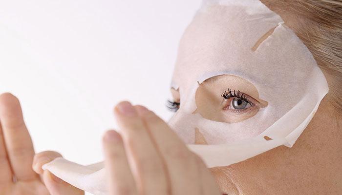 استفاده از ماسک ورق یا نقابی