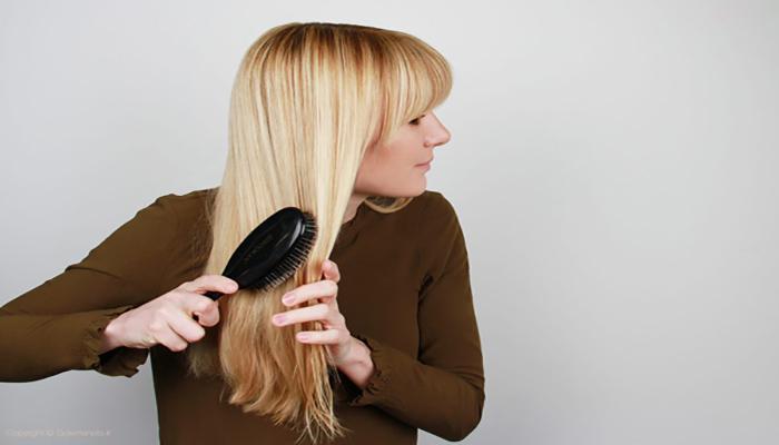 مراقبت از مو قبل از شانه زدن