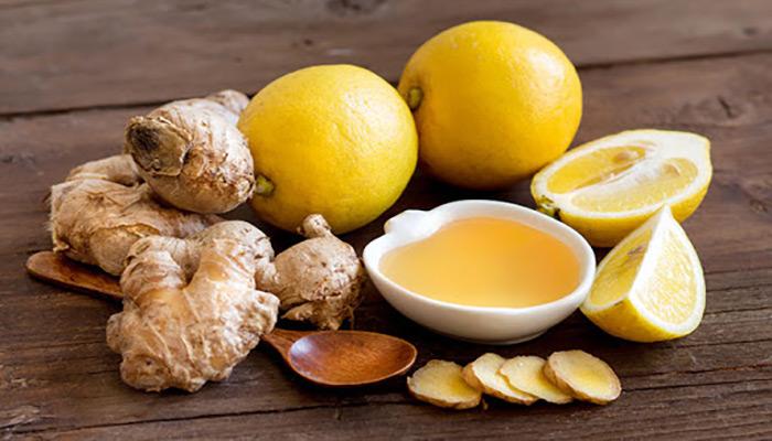 ماسک زنجبیل، عسل, لیمو و شیر