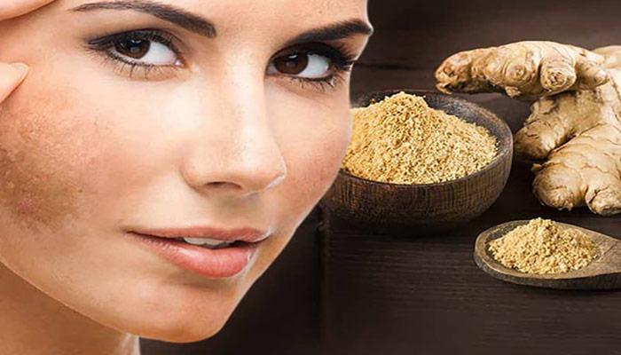 کاهش رنگ دانه های پوستی با مصرف زنجبیل