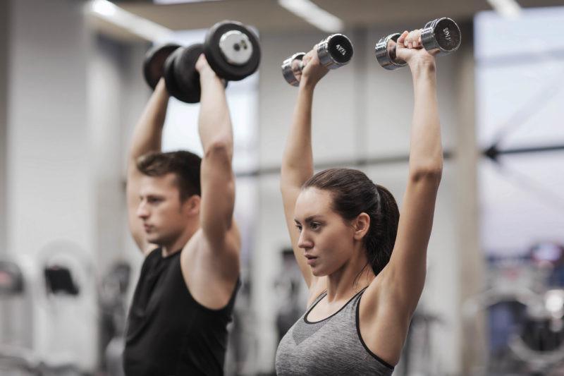 ورزش کردن با وزنه مناسب برای پوست