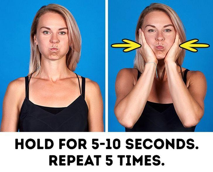 حرکت ششم ورزش لاغری صورت